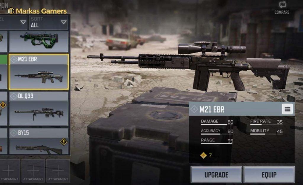 sniper cod mobile