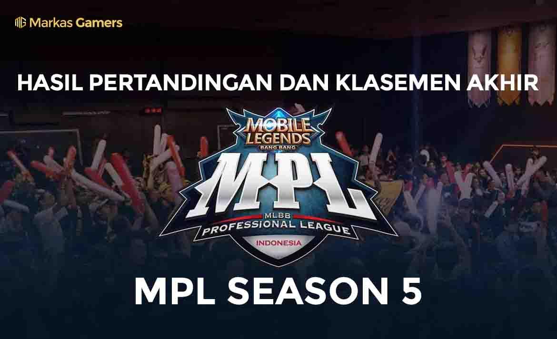 hasil akhir liga MPL Season 5