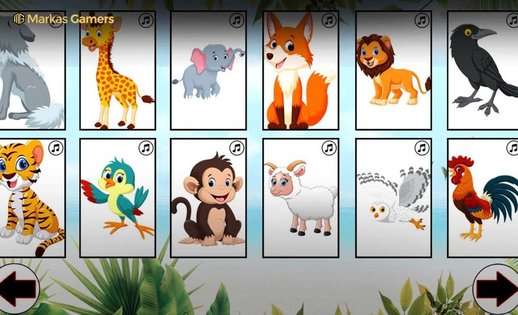 learn the animals game edukasi