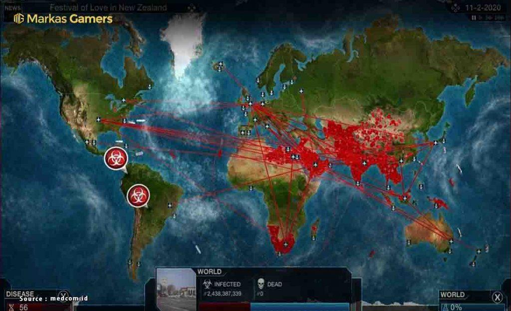 game penyebaran virus