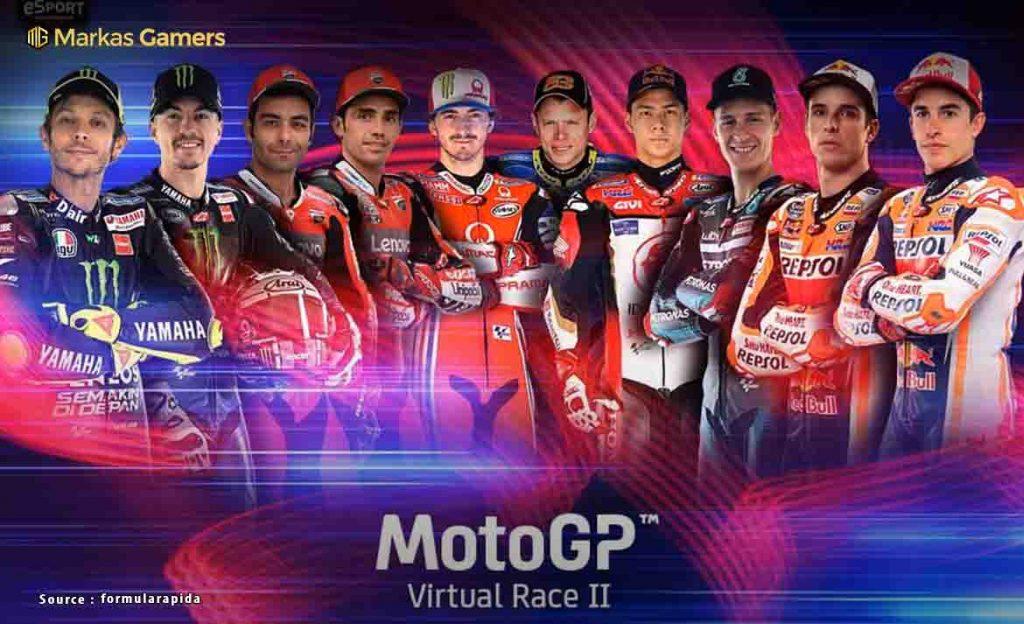 hasil pertandingan motogp virtual race