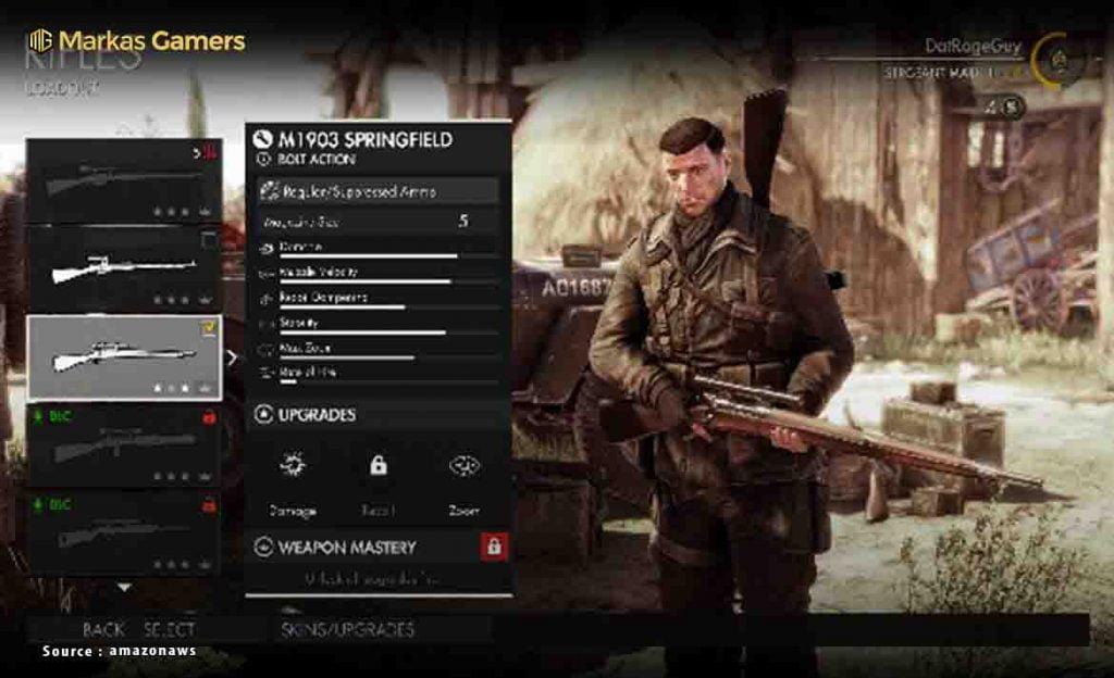 senjata sniper elite 4