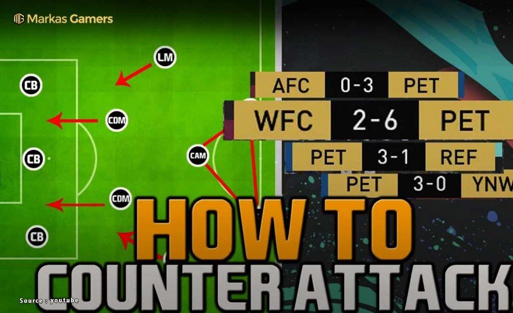 cara counter attack fifa 20
