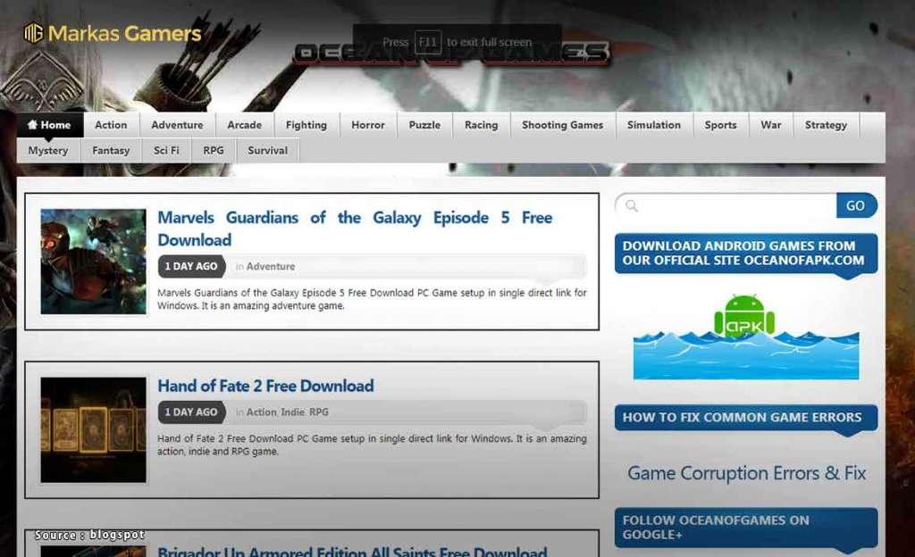 Situs Website Resmi download game laptop