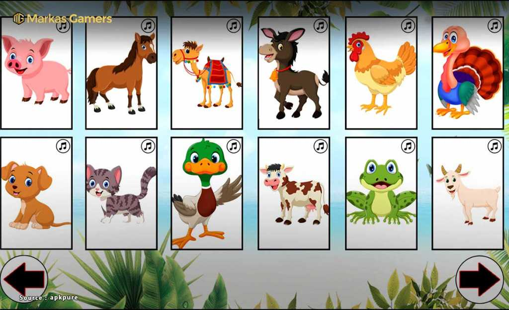 Animal Sounds. Learn animals names for kids game anak